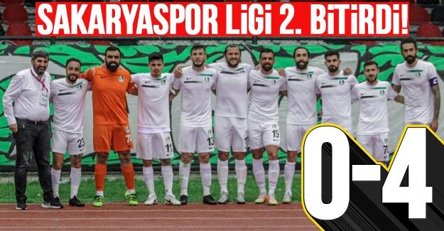 Sakaryaspor ligi 2. bitirdi! 0-4