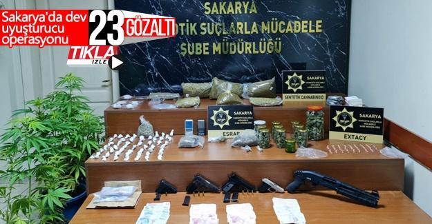 Sakarya'da dev uyuşturucu operasyonu
