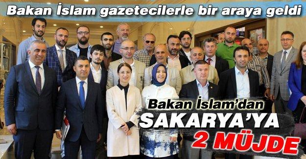 Bakan İslam Sapanca'da gazetecilerle bir araya geldi