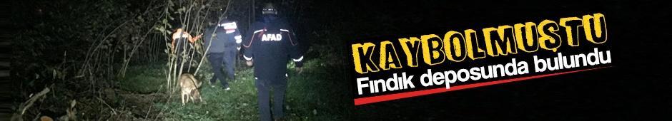 Kaybolan kadın fındık deposunda bulundu