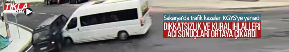 Sakarya'da trafik kazaları KGYS'ye yansıdı