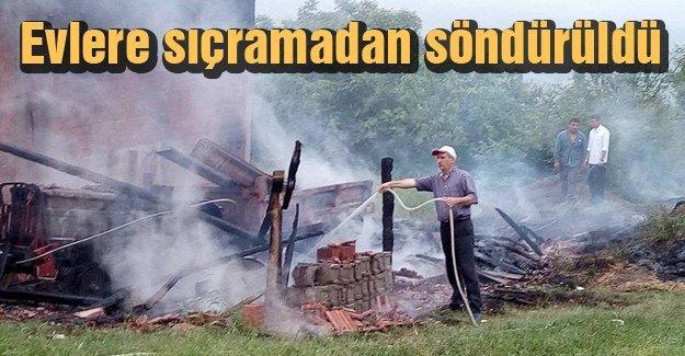 Ferizli'de koruluk yangını