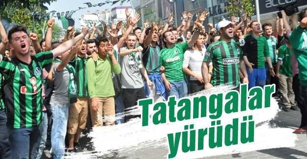 Tatangalar'dan Sakaryaspor'a destek yürüyüşü