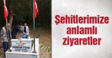 SYKD'li gençler şehit mezarlarını ve ailelerini ziyaret etti