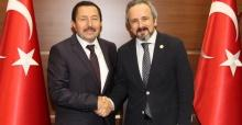 Başkan Kazan'dan Balkanlıoğlu'na veda ziyareti