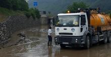 Yağıştan etkilenen bölgelere müdahale