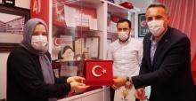 Başkan Tever şehit ailesini ziyaret etti