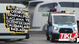 Büyükşehir Terminali ilaçlanıyor