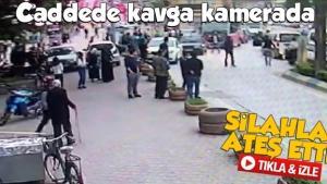 Sakarya'da kavga güvenlik kamerasına yansıdı