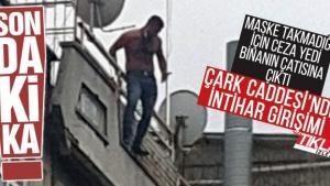 Çark Caddesi'nde intihar girişimi