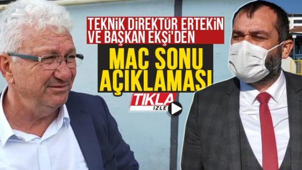 Teknik Direktör Ertekin ve Başkan Ekşi'den maç sonu açıklaması
