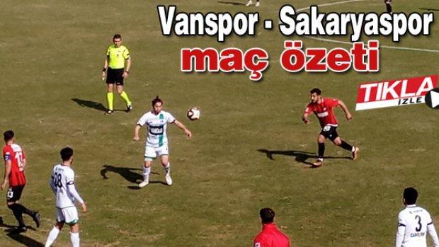 Vanspor-Sakaryaspor maç özeti
