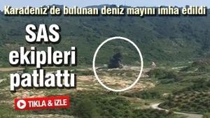 Karadeniz'de bulunan deniz mayını imha edildi