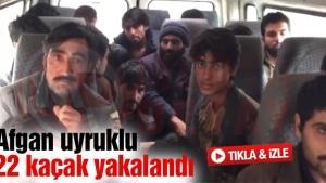 Afgan uyruklu 22 kaçak yakalandı