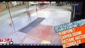 Kamyonet çarpan adamı hastane hastane gezdirdiler