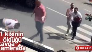1 kişinin öldüğü kavga kameralara yansıdı