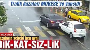 Sakarya'da trafik kazaları MOBESE'ye yansıdı