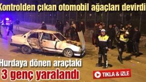 Sakarya'da hurdaya dönen araçtaki 3 genç yaralandı