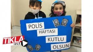 Minikler Polis Haftasını kutladı