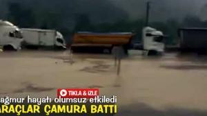 Yağmur sürücülere zor anlar yaşattı