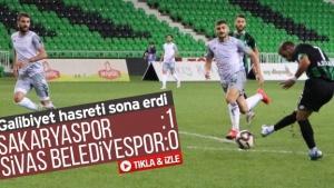 Sakaryaspor'un galibiyet hasreti sona erdi!