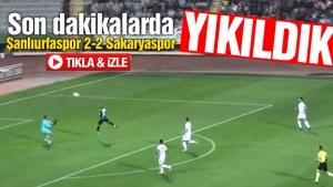 Şanlıurfaspor - Sakaryaspor maç özeti