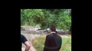 Taraklı'da dereler taştı! Ekili alan su altında kaldı
