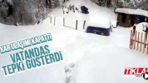 Kar o mahallede ulaşımı kapattı